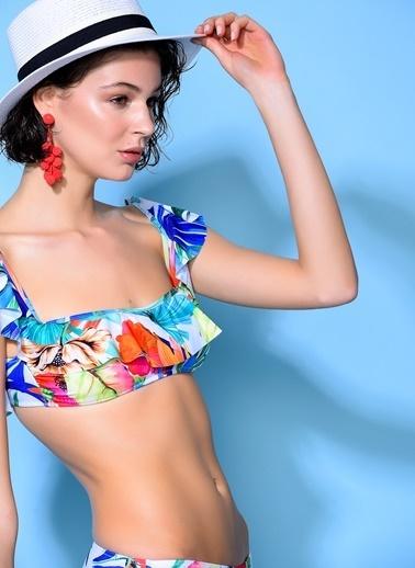 Loves You Volanlı Bikini Takım Renkli